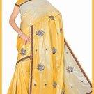 Indian Bollywood Designer Saree Embroidered Sari - TU6229