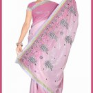 Indian Bollywood Designer Saree Embroidered Sari - TU6221