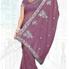 Indian Bollywood Designer Saree Embroidered Sari - TU6215