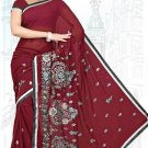 Indian Bollywood Designer Saree Embroidered Sari - TU6204