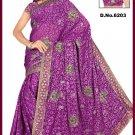 Indian Bollywood Designer Saree Embroidered Sari - TU6203