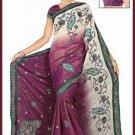 Indian Bollywood Designer Saree Embroidered Sari - TU6201