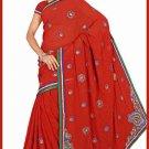 Indian Bollywood Designer Saree Embroidered Sari - TU6180