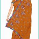 Indian Bollywood Designer Saree Embroidered Sari - TU6178