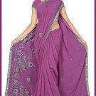 Indian Bollywood Designer Saree Embroidered Sari - TU6175