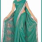 Indian Bollywood Designer Saree Embroidered Sari - TU6172