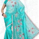 Indian Bollywood Designer Saree Embroidered Sari - TU6148