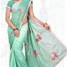 Indian Bollywood Designer Saree Embroidered Sari - TU6146