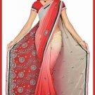 Indian Bollywood Designer Saree Embroidered Sari - TU6128
