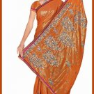 Indian Bollywood Designer Saree Embroidered Sari - TU6123