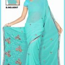 Indian Bollywood Designer Saree Embroidered Sari - TU6097