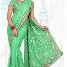 Indian Bollywood Designer Saree Embroidered Sari - TU6011