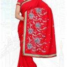 Indian Bollywood Designer Saree Embroidered Sari - TU6109