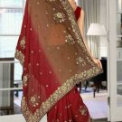 Indian Bollywood Designer Saree Embroidered Sari - TU6038