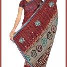 Indian Bollywood Designer Saree Embroidered Sari - TU6610