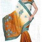 Indian Bollywood Designer Saree Embroidered Sari - TU6141