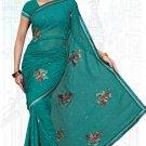 Indian Bollywood Designer Saree Embroidered Sari - TU6137