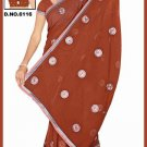 Indian Bollywood Designer Saree Embroidered Sari - TU6116