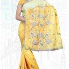 Indian Bollywood Designer Saree Embroidered Sari - TU6101