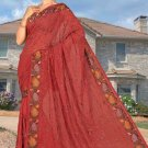 Indian Bollywood Designer Saree Embroidered Sari - TU6057