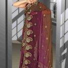 Indian Bollywood Designer Saree Embroidered Sari - TU6056