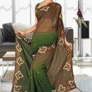 Indian Bollywood Designer Saree Embroidered Sari - TU6054