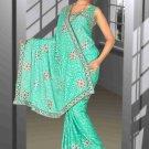 Indian Bollywood Designer Saree Embroidered Sari - TU6050