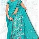 Indian Bollywood Designer Saree Embroidered Sari - TU5996