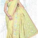 Indian Bollywood Designer Saree Embroidered Sari - TU5990
