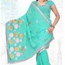 Indian Bollywood Designer Saree Embroidered Sari - TU5980