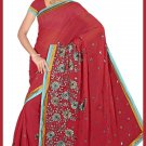 Indian Bollywood Designer Saree Embroidered Sari - TU6119
