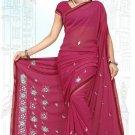 Indian Bollywood Designer Saree Embroidered Sari - TU5999