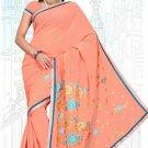 Indian Bollywood Designer Saree Embroidered Sari - TU5982