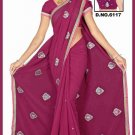 Indian Bollywood Designer Saree Embroidered Sari - TU6117