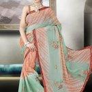 Indian Bollywood Designer Saree Embroidered Sari - TU601 -1