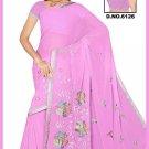 Indian Bollywood Designer Saree Embroidered Sari - TU6126
