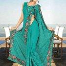Indian Bollywood Designer Saree Embroidered Sari - TU5961