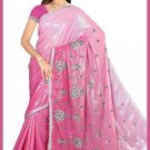 Indian Bollywood Designer Saree Embroidered Sari - TU5943