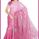 Indian Bollywood Designer Saree Embroidered Sari - TU5943
