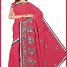 Indian Bollywood Designer Saree Embroidered Sari - TU5937