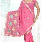 Indian Bollywood Designer Saree Embroidered Sari - TU5905