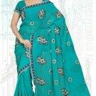 Indian Bollywood Designer Saree Embroidered Sari - TU5896