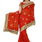 Indian Bollywood Designer Saree Embroidered Sari - TU5888B