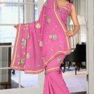 Indian Bollywood Designer Saree Embroidered Sari - TU5885