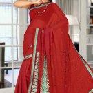 Indian Bollywood Designer Saree Embroidered Sari - TU5884