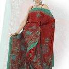 Indian Bollywood Designer Saree Embroidered Sari - TU535 -1