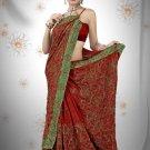 Indian Bollywood Designer Saree Embroidered Sari - TU523 -1