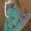 Indian Bollywood Designer Saree Embroidered Sari - TU521 -1