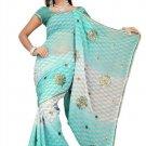 Indian Bollywood Designer Saree Embroidered Sari - TU482