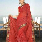Indian Bollywood Designer Saree Embroidered Sari - TU5951